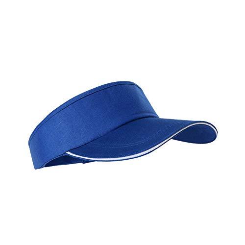 Moda Visera Sombrero Neutral vacíos casquillo de los deportes superior de los hombres de los deportes ajustables gorra de béisbol de color sólido Tenis Golf para Hombres Mujeres