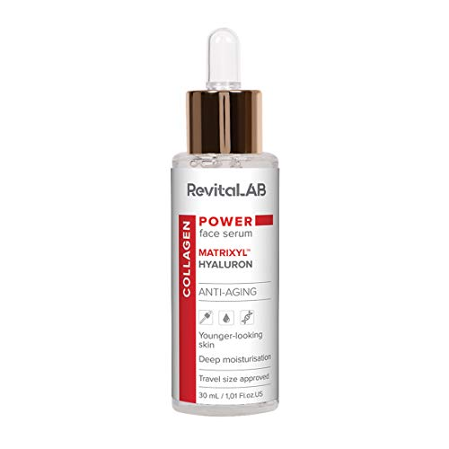 RevitaLAB Hochwirksames Anti-Aging-Gesichtsserum und Feuchtigkeitscreme mit Kollagen, Matrixyl, Hyaluronsäure, 30ml