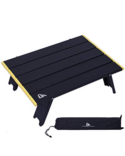 iClimb アウトドアテーブル ミニローテーブル キャンプ テーブル 折畳テーブルアルミ製 耐荷重30kg 超軽量 ...