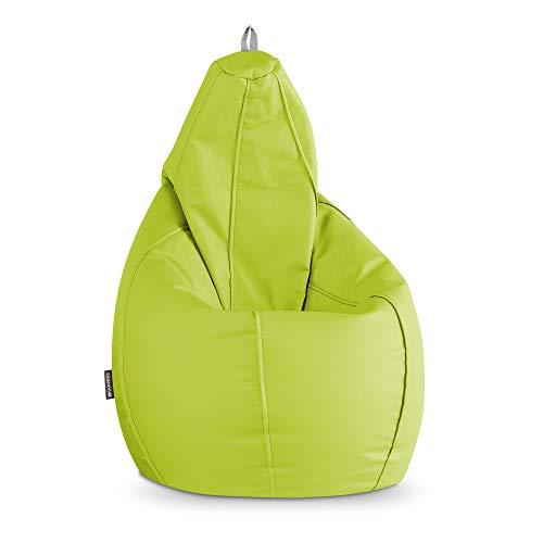HAPPERS Puff Pera Polipiel Interior Verde XL
