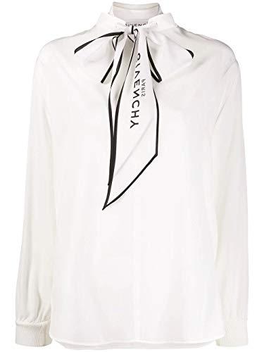 Luxury Fashion | Givenchy Dames BW60FG12EH130 Wit Zijde Blouses | Seizoen Permanent