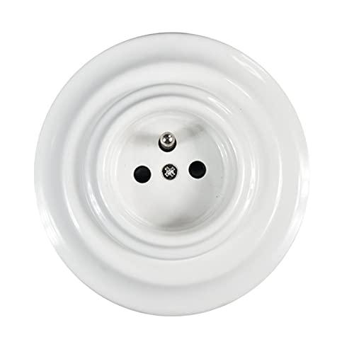 FRENCH Enchufes de Porcelana pared con toma de tierra para Empotrar en Paredes 240V,16A