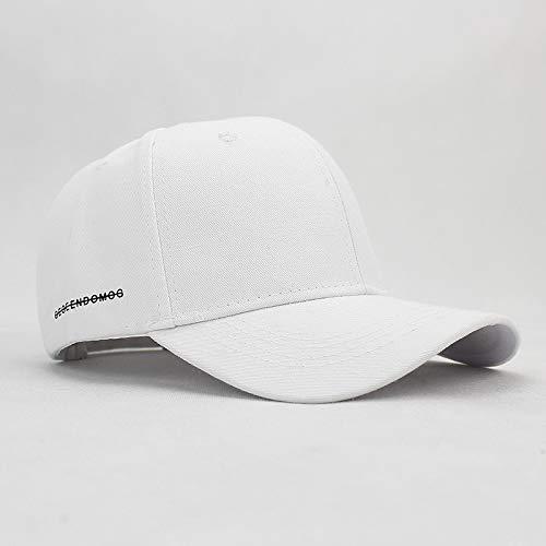 sdssup Sombrero de Calle Masculino inglés Letra aro Curva Gorra de béisbol Blanca