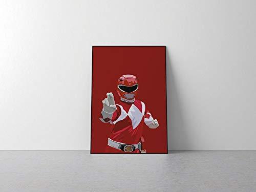 Póster de Power Rangers Inspirado en Power Rangers, Power Rangers, impresión Power Rangers, arte de Power Rangers, superhéroe A2 - 420x594mm