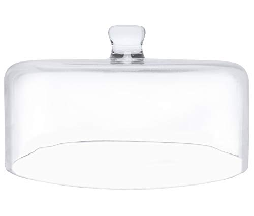 """Galashield Glass Cake Dome Cover 11.75"""" Diameter Clear"""