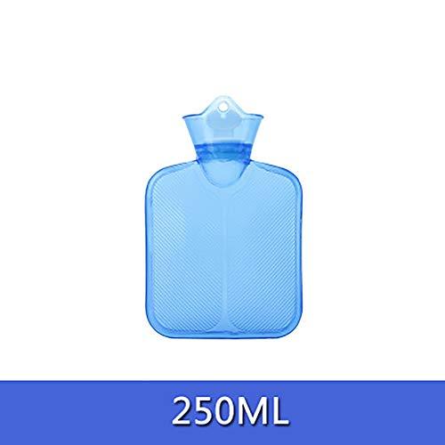 Bolsa de agua caliente para aliviar el dolor,Botella de agua caliente de pvc riego,Espesar la seguridad explosión prueba clásico calentador de la mano para casero y al aire libre-Azul C