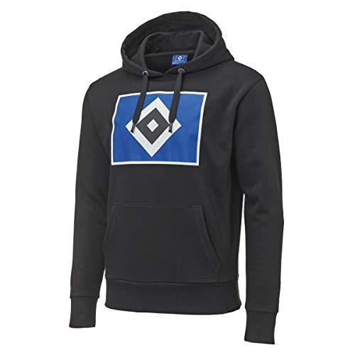 Hamburger SV HSV Hoody Kapuzenpullover Raute schwarz Gr. XL