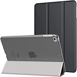 حافظة ذكية لجهاز آيباد ميني 4/5 غطاء خلفي شفاف متجمد - أسود