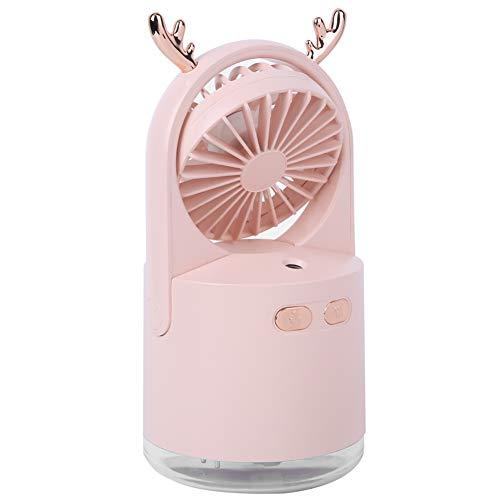 LFLF (Rosa Humidificador De Humidificador De Humidificador Portátil USB Mism Spray Ventilador Humidificador De Enfriamiento
