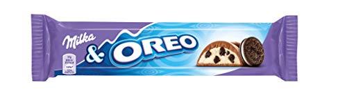 Milka & Oreo - Barrette di cioccolata al latte con pezzetti di biscotto Oreo, showbox da 36 tavolette da 37g ciascuna