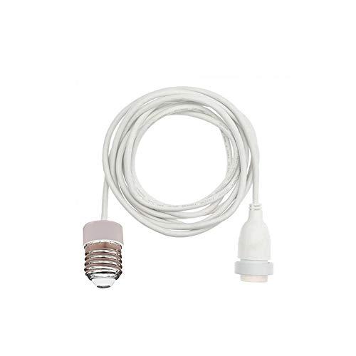 New lamps Prolunga Portalampada da E27 a E27 per catena luminosa Cordoniera - Bianco, 150 cm