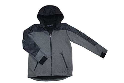 Under Armour Youth Boys Storm Full Zip Jacket Athletic Hoodie 1345519 (Black 001, M 10/12)