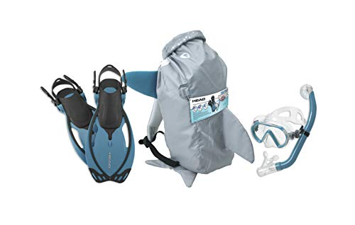 HEAD Mares Sea Pals máscara infantil conjunto de snorkel de quilha, aqua, grande/1-4