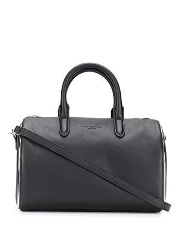 Alexander Wang Moda De Lujo Mujer 20C120S121001 Negro Cuero Bolso De Mano...