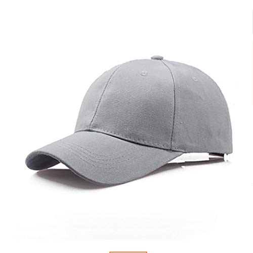 Janly Liquidación Venta Sombrero, Sombrero Algodón Tablero Luz Color Sólido Gorra De Béisbol Hombres Gorra Al Aire Libre Sombrero De Sol (Gris)