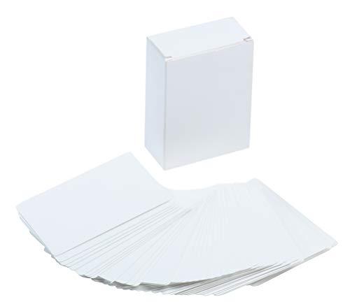 Juvale Fiches Bristol Vierges - Flashcards Pour Notes en Papier Cartonné Blanc - Paquet de 216, 2,5 x 8,9 cm