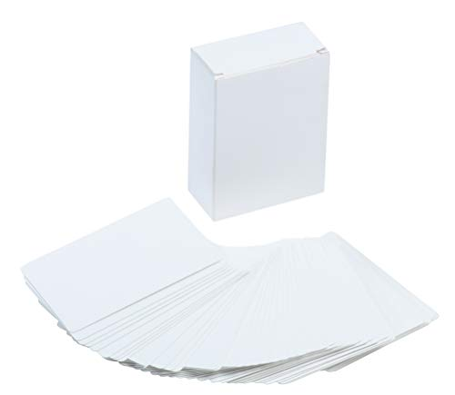 Lege Index Card - Witte Karton, Flash Cards, Notitiekaarten, Perfect voor DIY Game Card, Studie, School, Taal Leren, Memory Game, 420 GSM 216-Piece, 2.5 x 3.5 Inches Kleur: wit