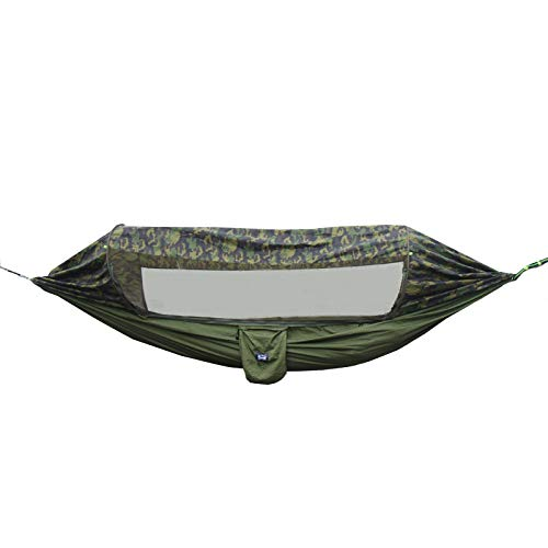 MyWheelieBin Multifunctional Sunshade And Anti-mosquito Hammock, Parachute Cloth, Swing In Seconds, Suspended Tent 290x140cm Army/Camouflage