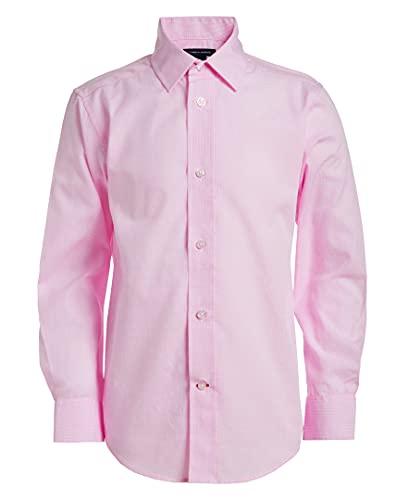 Tommy Hilfiger Little Boys Long Sleeve Cross Gingham Dress Shirt, Light Pink, 7