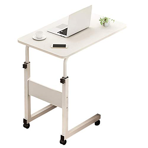 Jlxl Overbed Tables Adjustable, Laptop Desk Portable Computer Bed Couch Sofa Side Table, Great For Reading, Eating Breakfast, Elderly Aid, Four Wheels Furniture