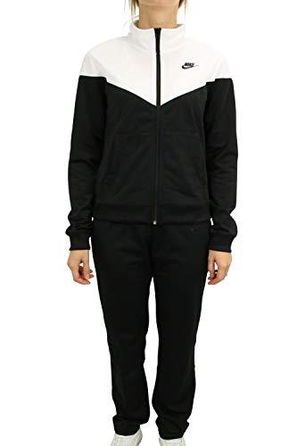 NIKE W NSW TRK Suit PK Chándal, Mujer, Black/White/Black, L