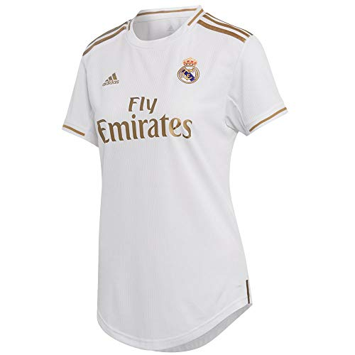adidas Women's Real Madrid Home Jersey 2019-20 (White/Gold) (L)