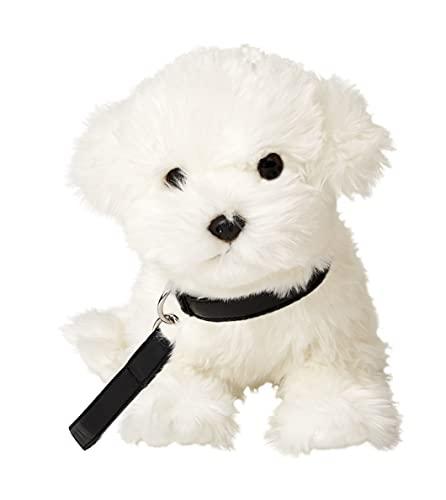 Uni-Toys - Malteser mit Leine - 26 cm (Länge) - Plüsch-Hund - Plüschtier, Kuscheltier