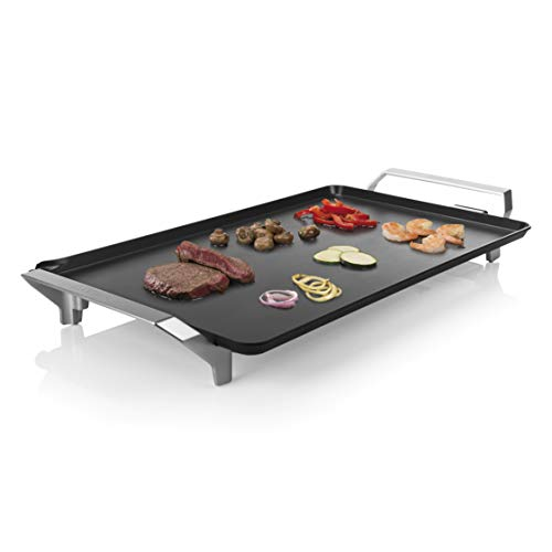 Princess Table Chef Premium 103120 Plancha extragrande XXL, con doble elemento calefactor, 60 x 36 cm