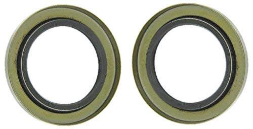 2 The ROP Shop Trailer HUB Grease Seals Double Lip 1.249 x 1.983 Replace TruRyde 34823 Axle
