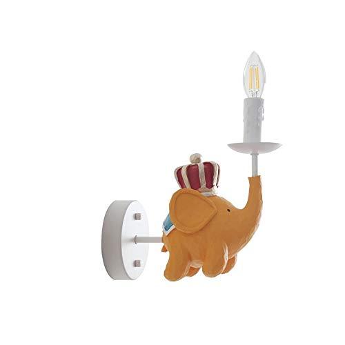 Américain Royal Flying Elephant Enfants Garçon filles chambre Résine lampe de chevet chambre chambre personnalité créatrice lumières