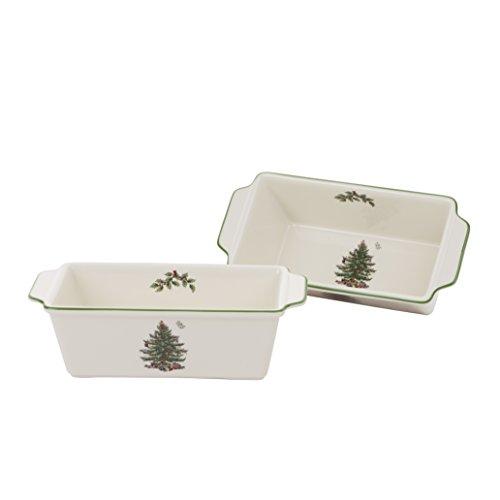 Spode Christmas Tree Loaf Pan, Set of 2