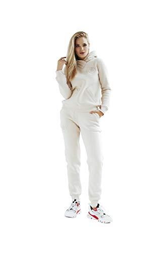 Polker Chandal de mujer beige | conjuntos calentitos de ropa deportiva chaqueta y pantalón | conjunto chándal de marca de tamaño XS