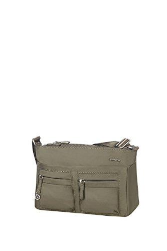 Samsonite Move 2.0 Horizon Shoulder Bag + Flap Bolso Bandolera, 3.94 Litros, Color Verde Metalizado