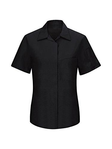 Red Kap Performance Plus Women's Short Sleeve Shop Shirt with Oilblok Tech Black/Charcoal S