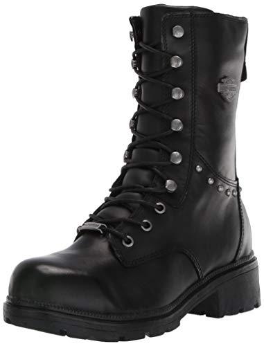 HARLEY-DAVIDSON FOOTWEAR Women's Cherwell ST Motorcycle Boot, Black, 9