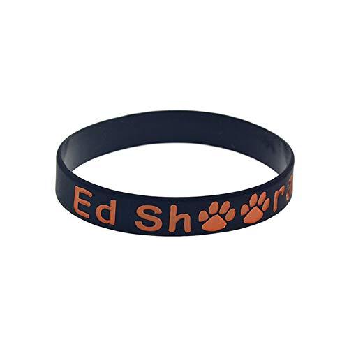 Xi-Link Ed Sheeran Ed Sheeran Silicona Estrellas Correa de Pulsera (Color : Black)