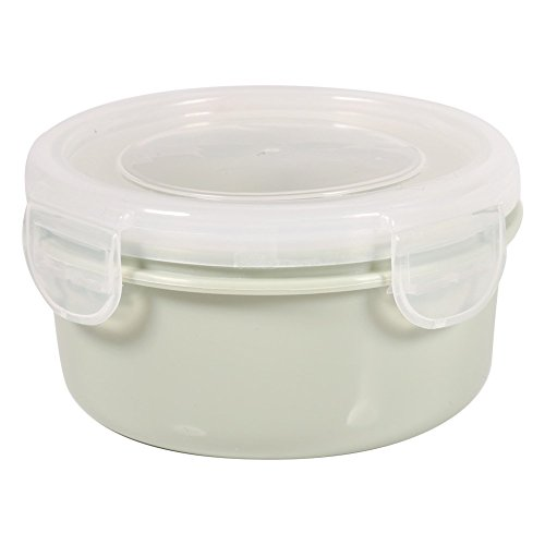 LIUCHANG Food Storage Containers Bento Boxes Bpa Free Silicone with Locking Lids for Kitchen Food Fruit Case - Oven, Microwave, Freezer Safe(Round-Green) liuchang20