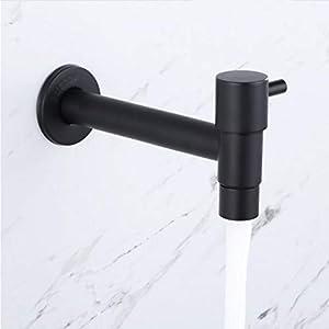 Syhua Grifo Color Negro Acero Inoxidable Pasto Solo Agua Fría Grifo De Pared Jardín Piscinas Lavadora De Agua Grifo…