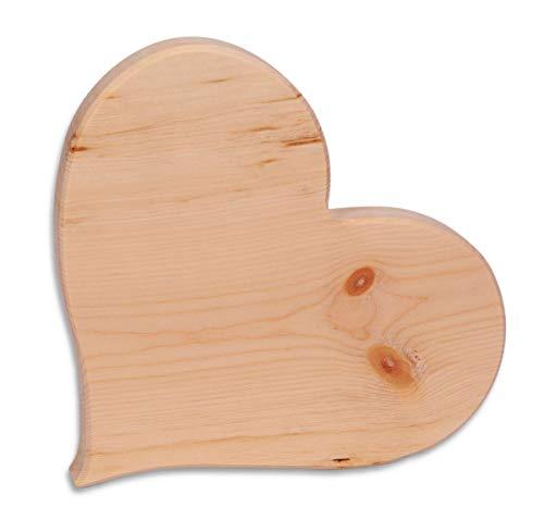 Dekobox Herz aus Zirbenholz - Verschiedene Größen - aus Tiroler Zirbe - naturbelassen und unbehandelt (20x2cm)