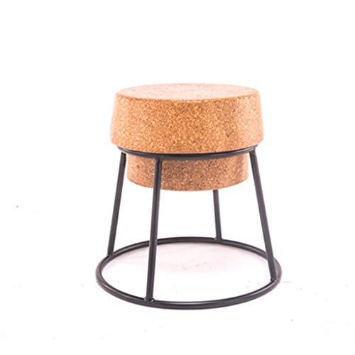 Taburete de bar de metal GXWBH, taburete de bar, cocina, restaurante, dormitorio, taburete de maquillaje, porche, reposapiés LD01-06 45cm seat high marrón