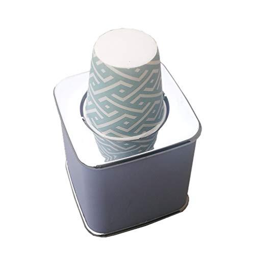 Cabilock - Dispensador de Vasos de cartón con 20 Vasos para dispensador...