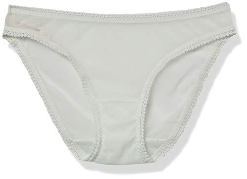 OnGossamer Mesh Low-Rise Bikini Panty, Aqua Glass, S