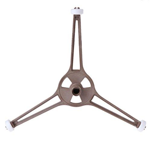 WT-DDJJK Soporte de trípode, Soporte de Bandeja en Forma de triángulo de plástico para Horno microondas para Placa de Vidrio Plana de 24,5 cm