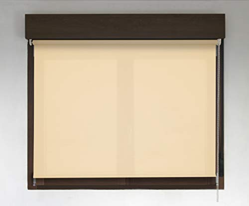 EB ESTORES BARATOS Estor Semiopaco Karina Premium/Gran solidez a los Rayos UV. Elija su Medida de Ancho x Alto aproximada/le llamaremos para un Ajuste Color: Amarillo Claro. Medidas: 70cm x 160cm