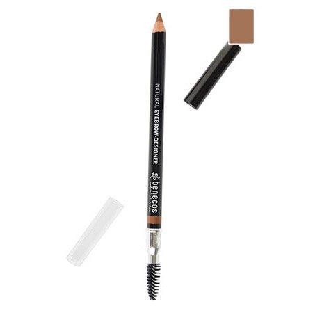 Crayon sourcils naturel et vegan - Certifié BDIH - Benecos - 02 - Châtain