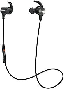 Bluetooth Earphones, TaoTronics Bluetooth 4.1 Headphones Stereo Magnetic Earbuds, Secure Fit for Sport, Gym with Built-in Mic