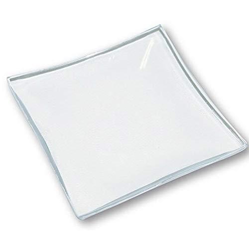 Hobby e Blu 6 platos cuadrados de cristal transparente para decorar, 30 x 30 cm.