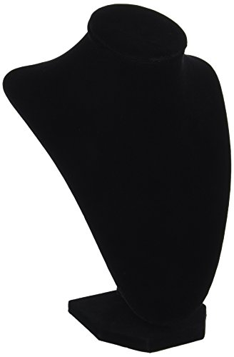 Price comparison product image Darice 1999-084 3-Dimensional Velvet Jewelry Stand,  9-Inch,  Black