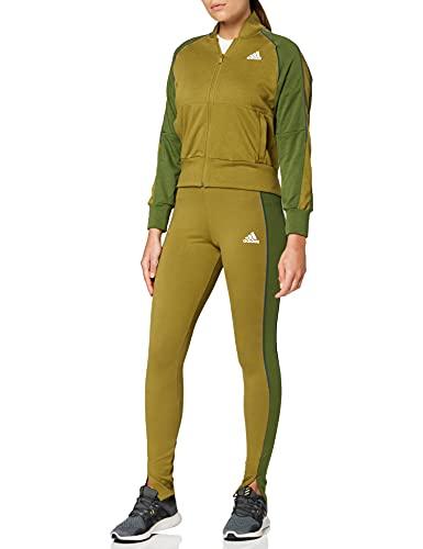 adidas W TS Bomb&Tght Trainingsanzug, Wild Moss/Wild Pine, M Damen