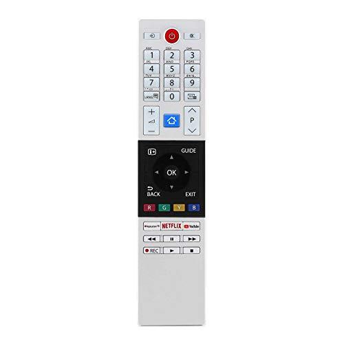 121AV - Mando a Distancia de Repuesto para televisores Toshiba 30099677 CT-8528 RC42151 4K Ultra HD LED con Rakuten TV, Netflix, Youtube Buttons